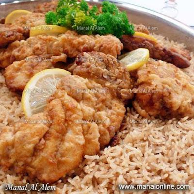 سمك مع أرز السمك
