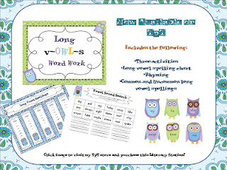 long vowels, long vowels unit, long vowels activities, giveaway