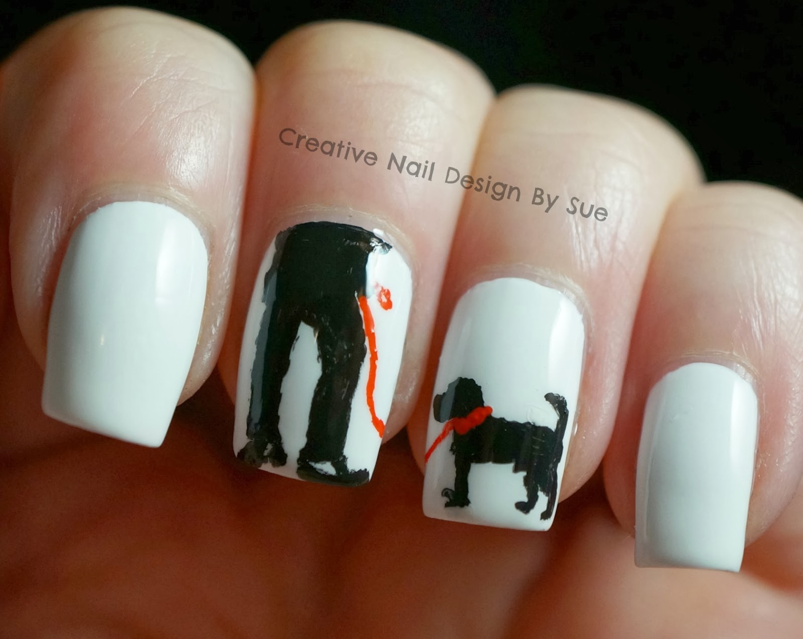 Creative Nail Design by Sue: The Digital Dozen Does Black and White ...