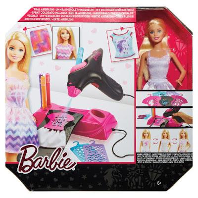TOYS : JUGUETES - BARBIE Aerógrafo Diseños Fashion + Muñeca Barbie Barbie Airbrush Designer & Doll Producto Oficial | Mattel CMM85 | A partir de 6 años Comprar en Amazon España & buy Amazon USA