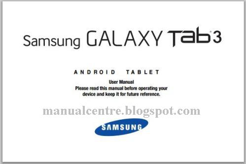 Samsung Galaxy Tab 3 7.0 Manual Cover