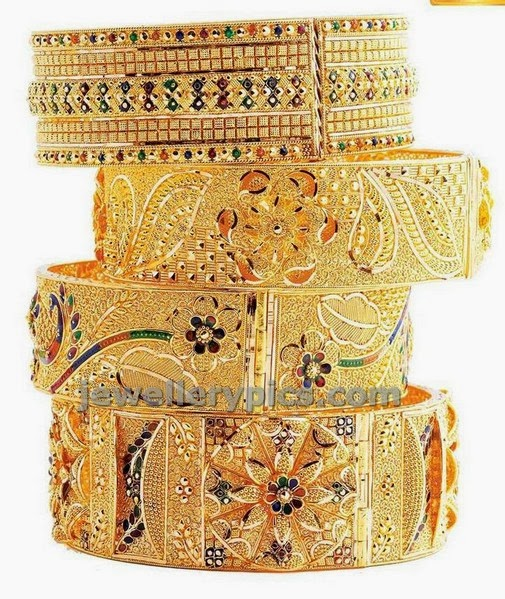 gold bracelet bangles thick designs