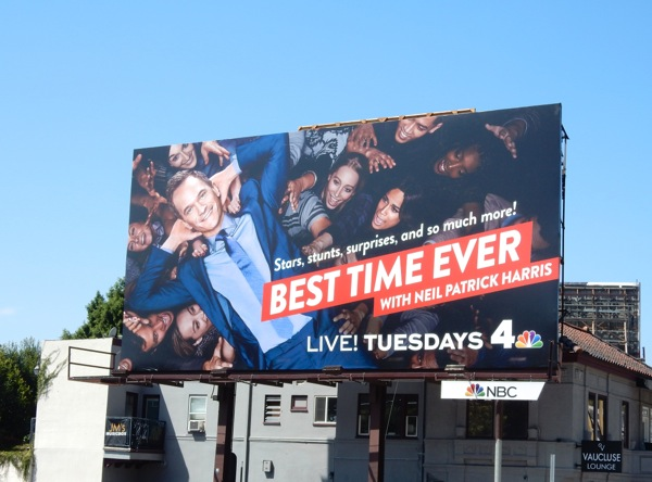 Best Time Ever series premiere billboard