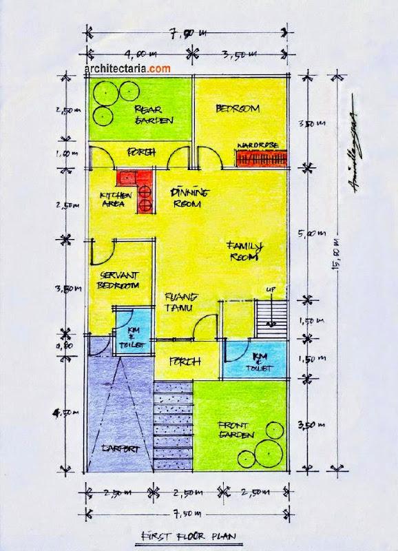 Gambar Rumah Minimalis Ukuran 6x20  Desain Rumah Minimalis