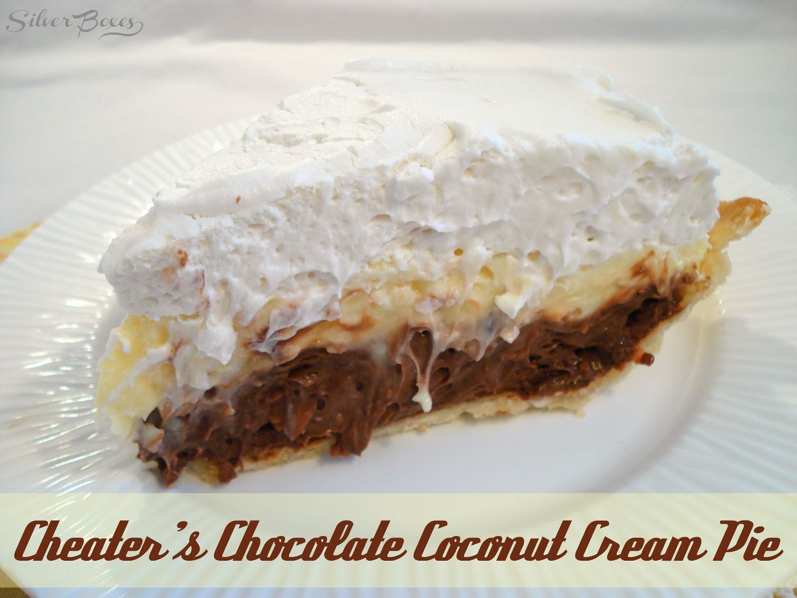 Silver Boxes: Cheater's Chocolate Coconut Cream Pie