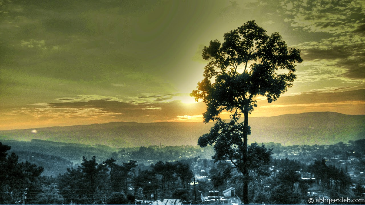 sunrise at shillong