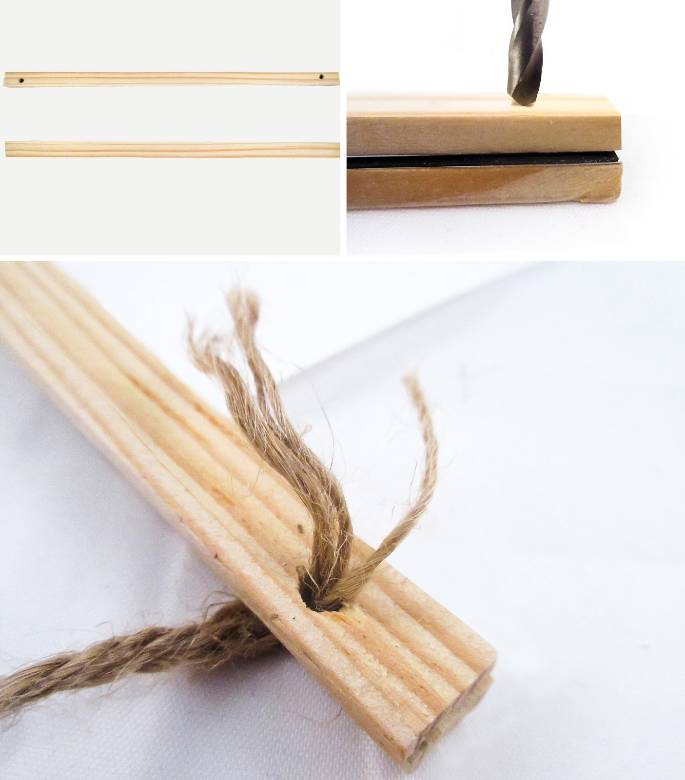 2 take one pair of sticks and allow the magnets to stick together line them up and drill a 316 hole through the wood and the magnetic sheet