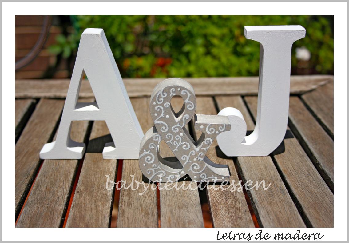 Baby delicatessen letras de madera letras para novios - Letras en madera ...