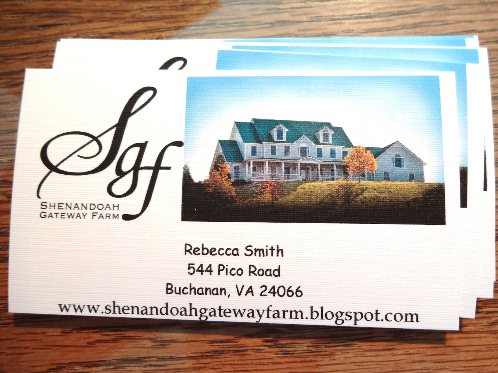 Shenandoah gateway farm business cards business cards magicingreecefo Choice Image