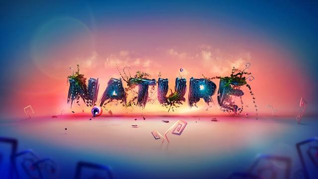Nature Typography