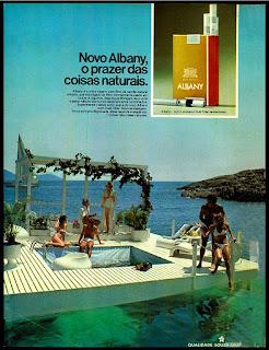 propaganda cigarros Albany - 1976; propaganda anos 70; história decada de 70; reclame anos 70; propaganda cigarros anos 70; Brazil in the 70s; Oswaldo Hernandez;