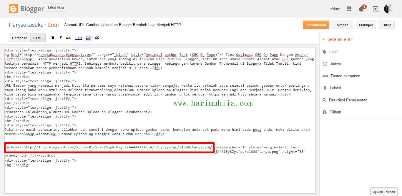 Alamat/URL Gambar Upload-an Blogger Berubah