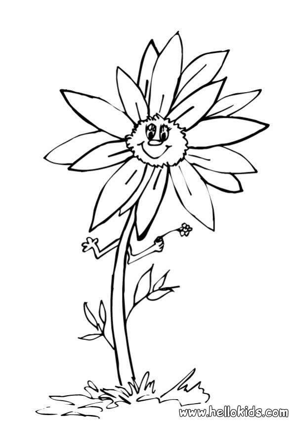 sunflowers to color sunflower coloring pages