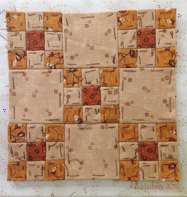 Dear Jane Quilt - Block C-12 Family Reunion