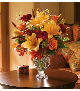 Order Fall Flowers in A Vase