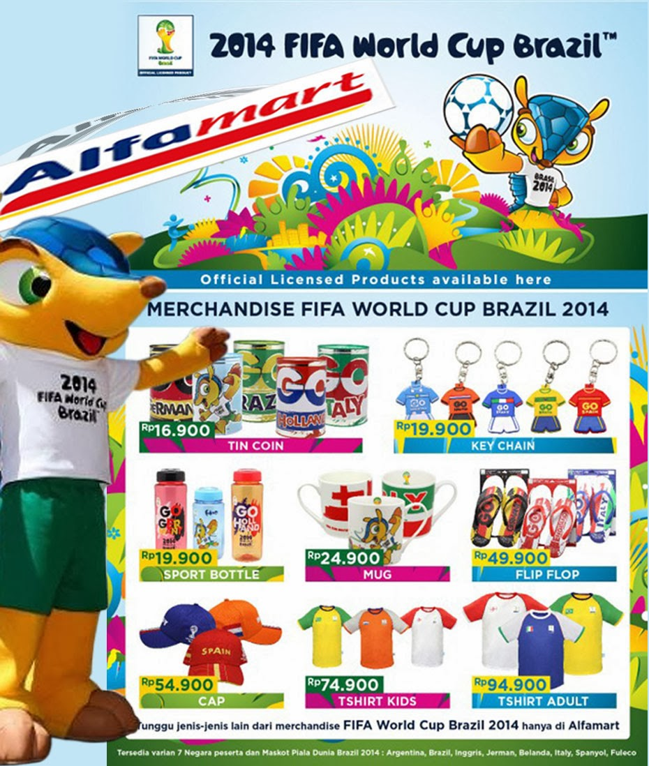 Merchandise piala dunia brazil