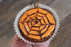 Spindelvevmuffins til Halloween