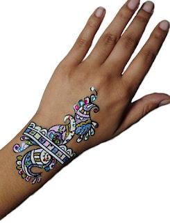 Glitter Goddess Temporary Tattoo