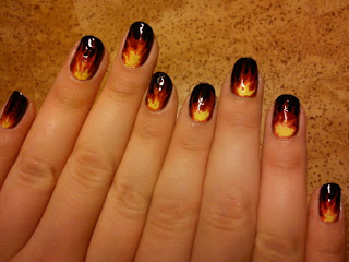 Hunger Games tutorial: Katniss nails on fire