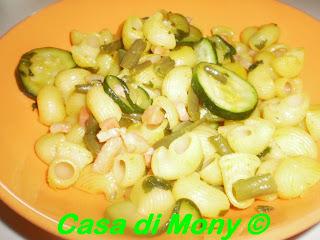 pipette con verdure e pancetta