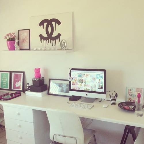 Daily city girl fashion blog back to school ideal for Ideal home study room