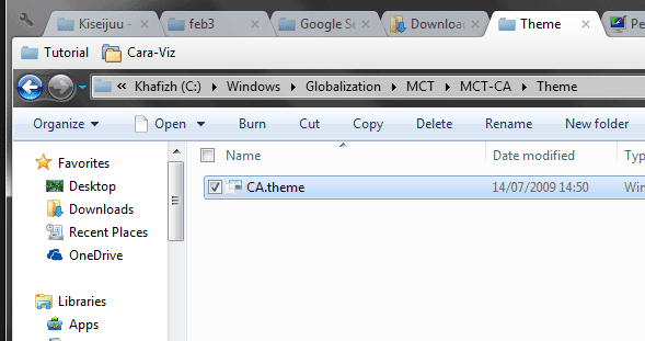 Cara Mudah Membuka Tema Tersembunyi Pada Windows 7
