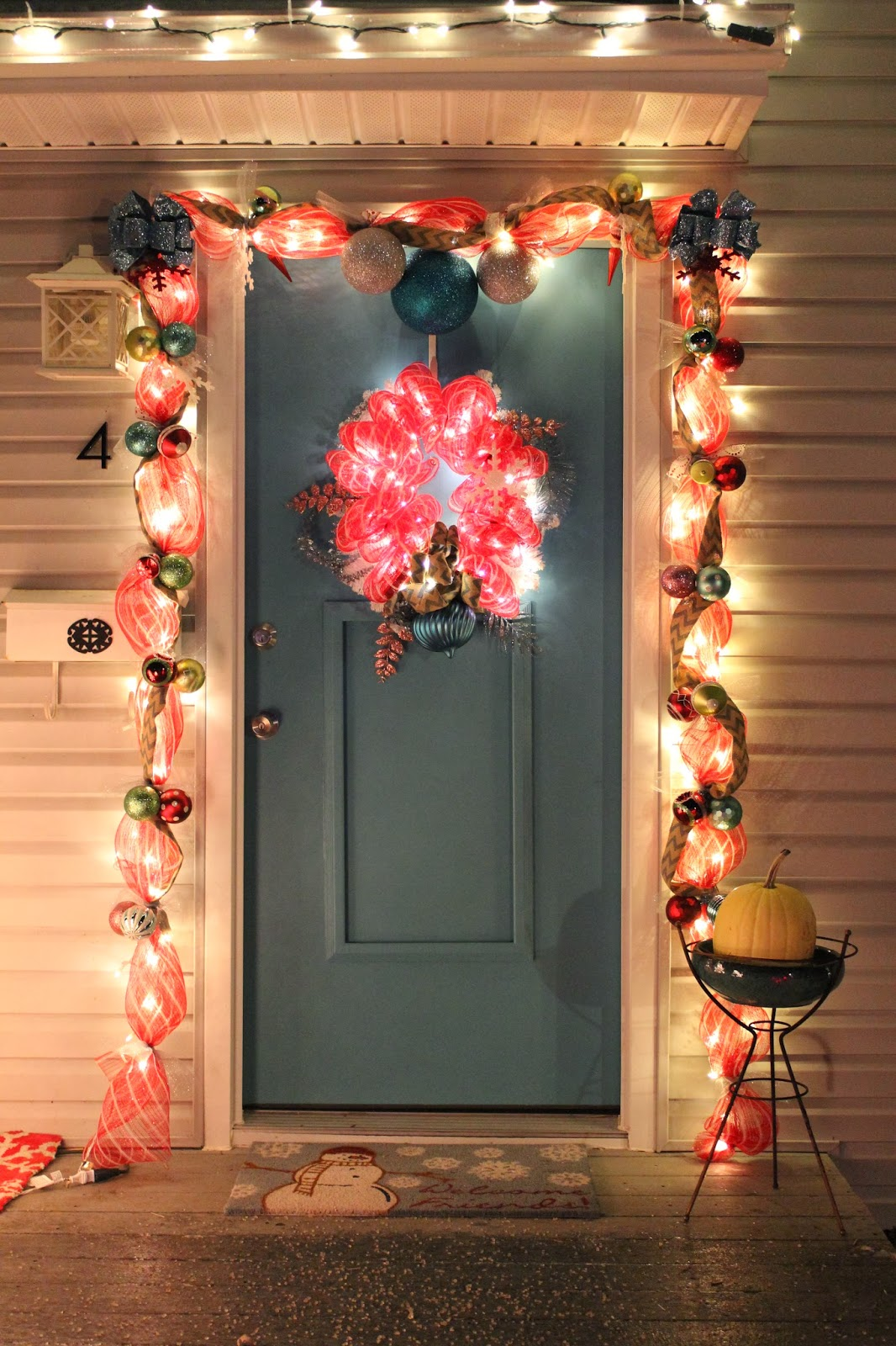 Lola tangled how to make your own deco mesh door garland for Door garland christmas