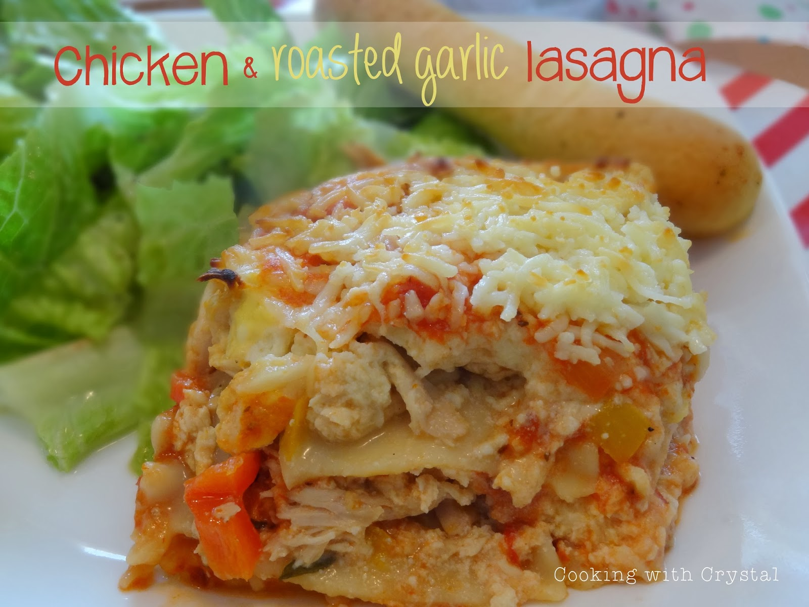 saw this recipe for Chicken and Roasted Garlic Lasagna and it ...