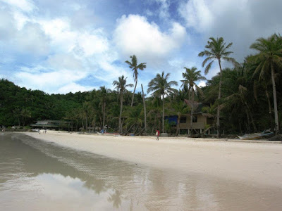 White sands beach in Boracay the Philippines