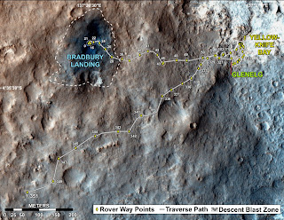 Путь, который прошел Curiosity почти за год