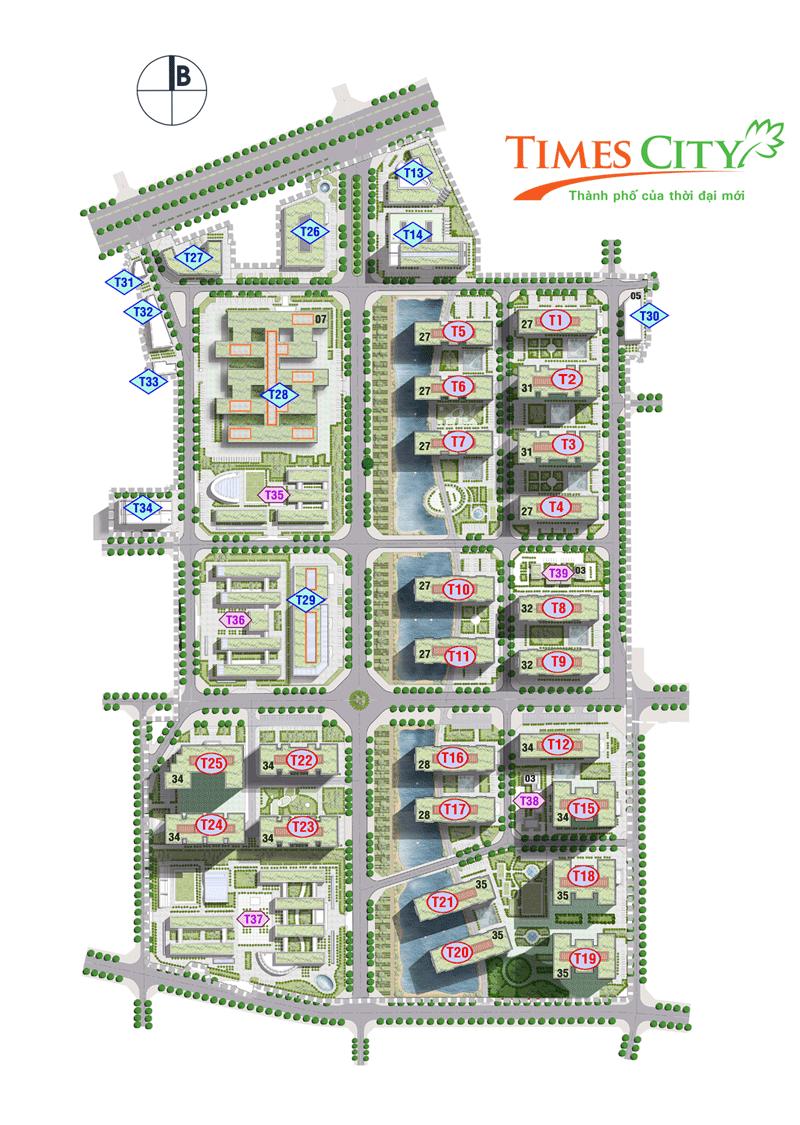 Tổng thể toàn dự án chung cư Times City