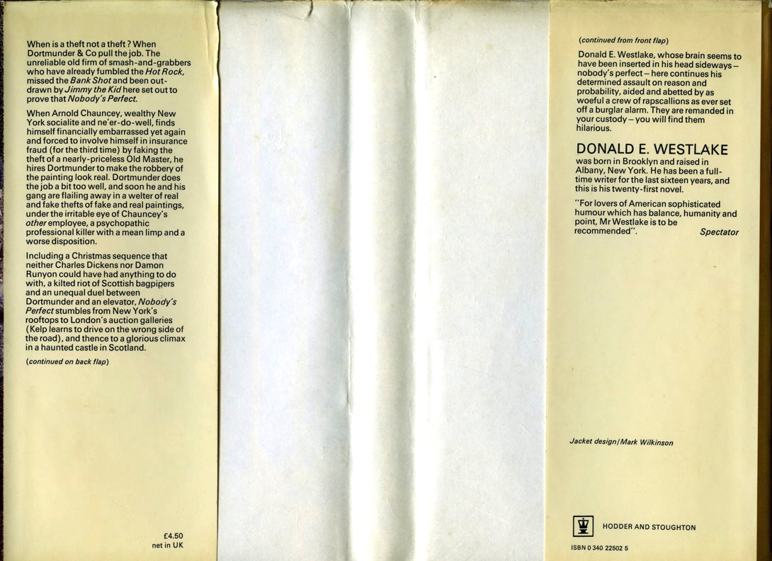 existential ennui  westlake score nobody s perfect by donald e westlake hodder 1978 dortmunder daze