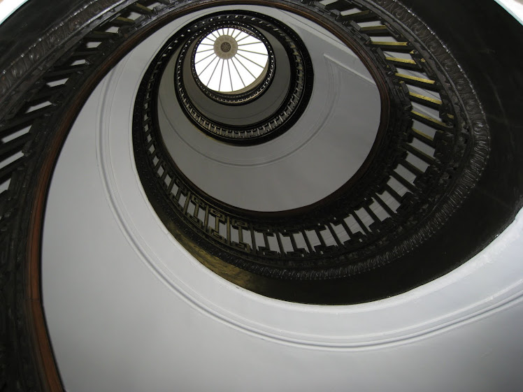 Staircase at The Mechanics Institute in San Francisco