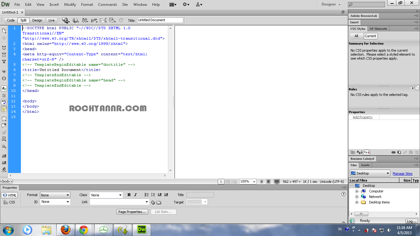 how to create a template in dreamweaver cs6