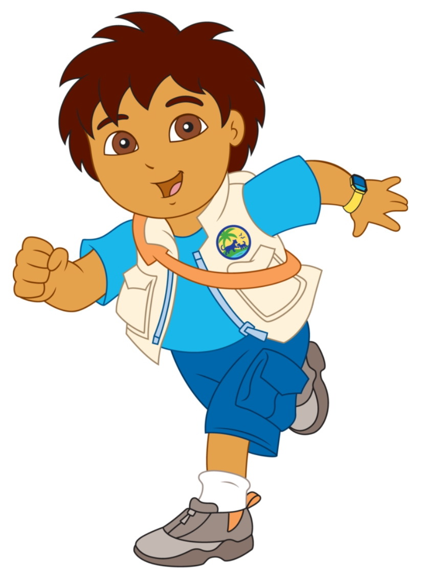 1 Cartoon Character : Cartoon characters go diego