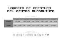 HORARIO DEL CENTRO GUADALINFO