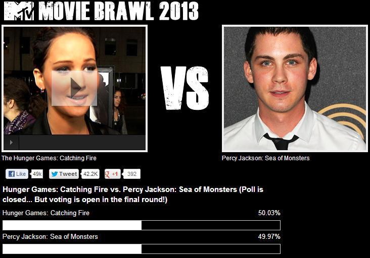 Captura pantalla resultados semifinal En llamas-El mar de los monstruos
