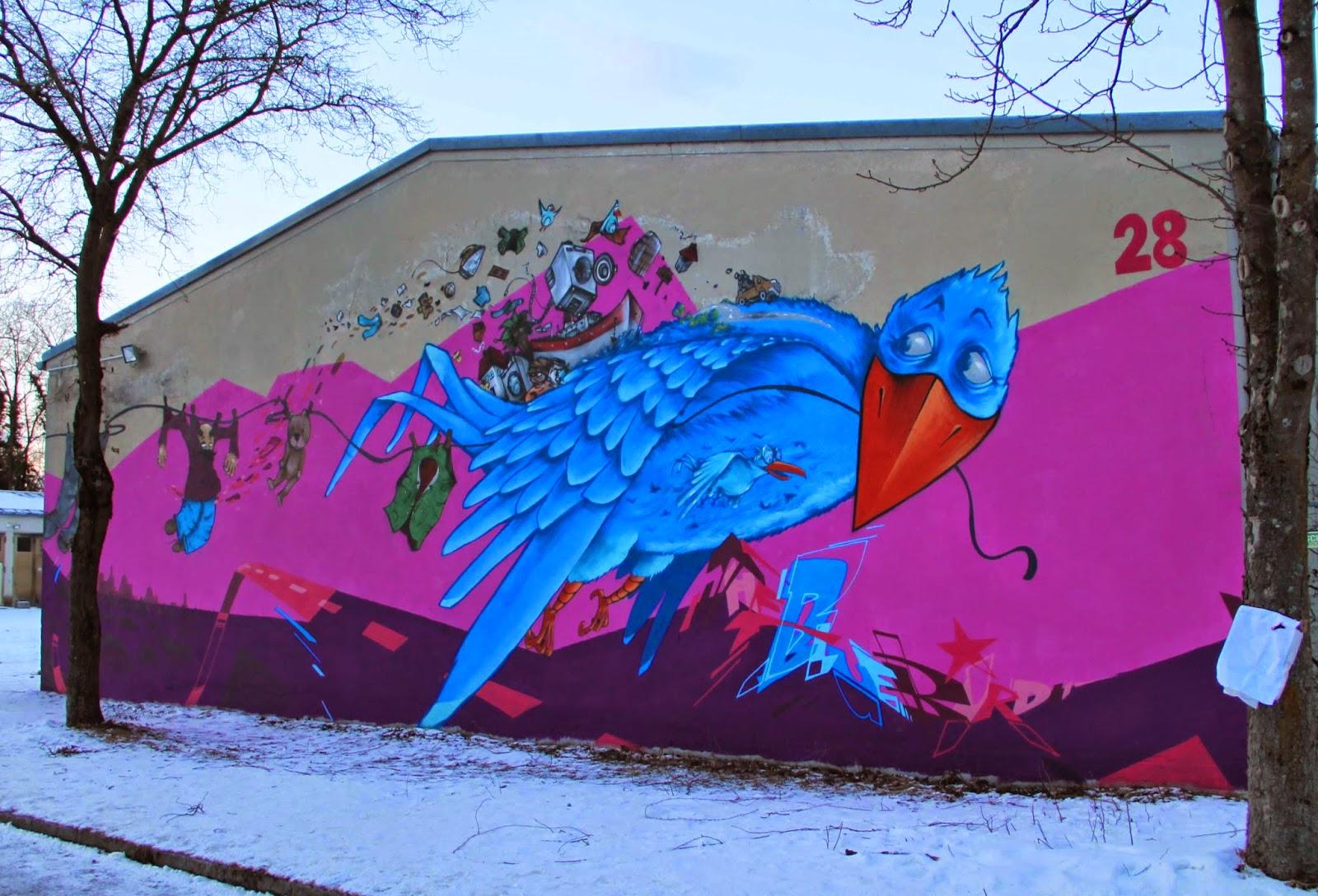 der blaue Vogel auf Reisen...