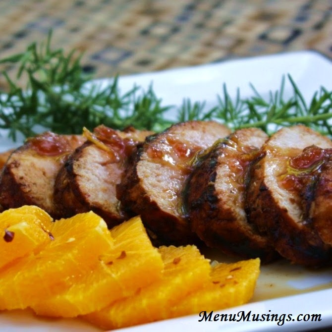 Ginger Orange Pork Tenderloin @ menumusings.com