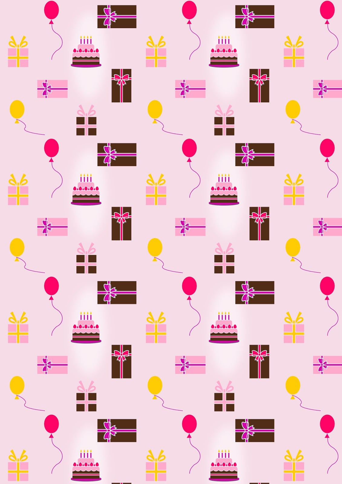 Printable Birthday Wrapping Paper Free ~ Free digital birthday scrapbooking paper ausdruckbares geschenkpapier freebie meinlilapark