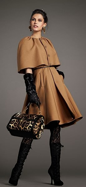 Gorgeous Brown coat and leopard Bag