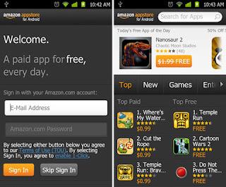 Using Amazon app store