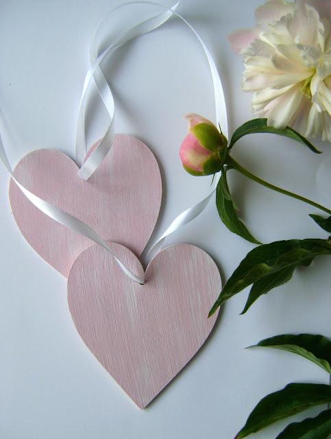 decoupage serce peonie peonies różowy