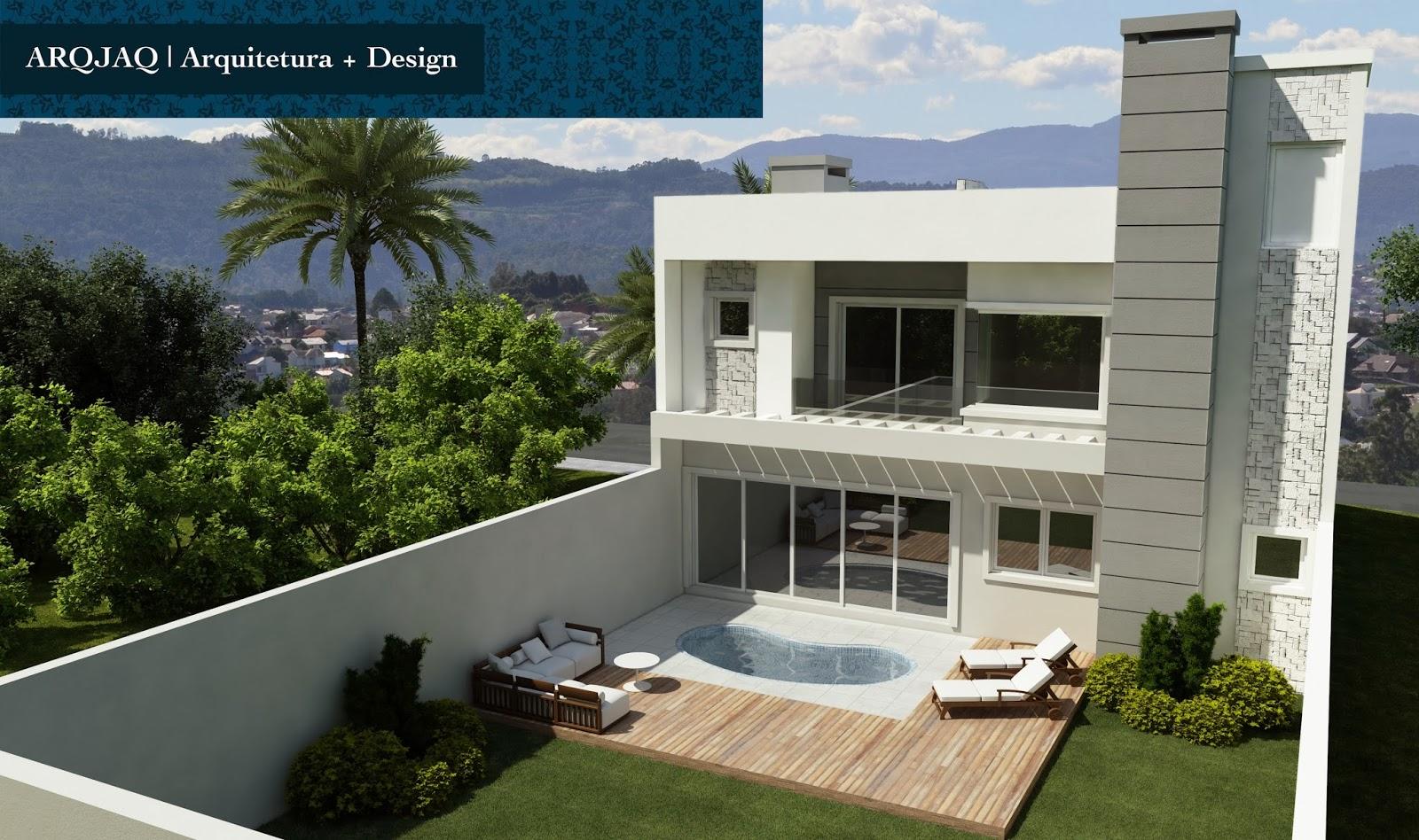 #13425B fachada dos fundos apresenta os mesmo elementos já utilizados na  1600x948 px Projetos De Casas Com Cozinha Nos Fundos #187 imagens