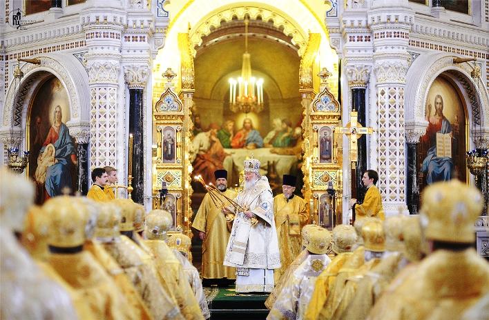Θεία λειτουργία στον καθεδρικό ναό