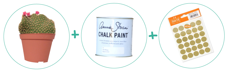 decorar una maceta con chalk paint