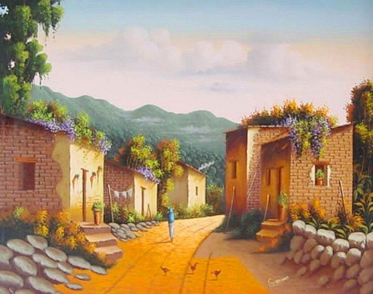 cuadros al óleo paisajes pinturas de paisajes al óleo sobre lienzo