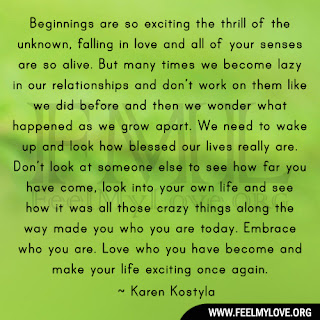 Beginnings are so exciting the thrill