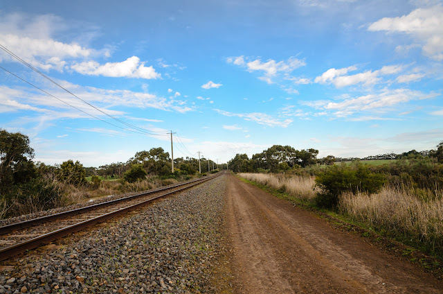 railway line and dirt road