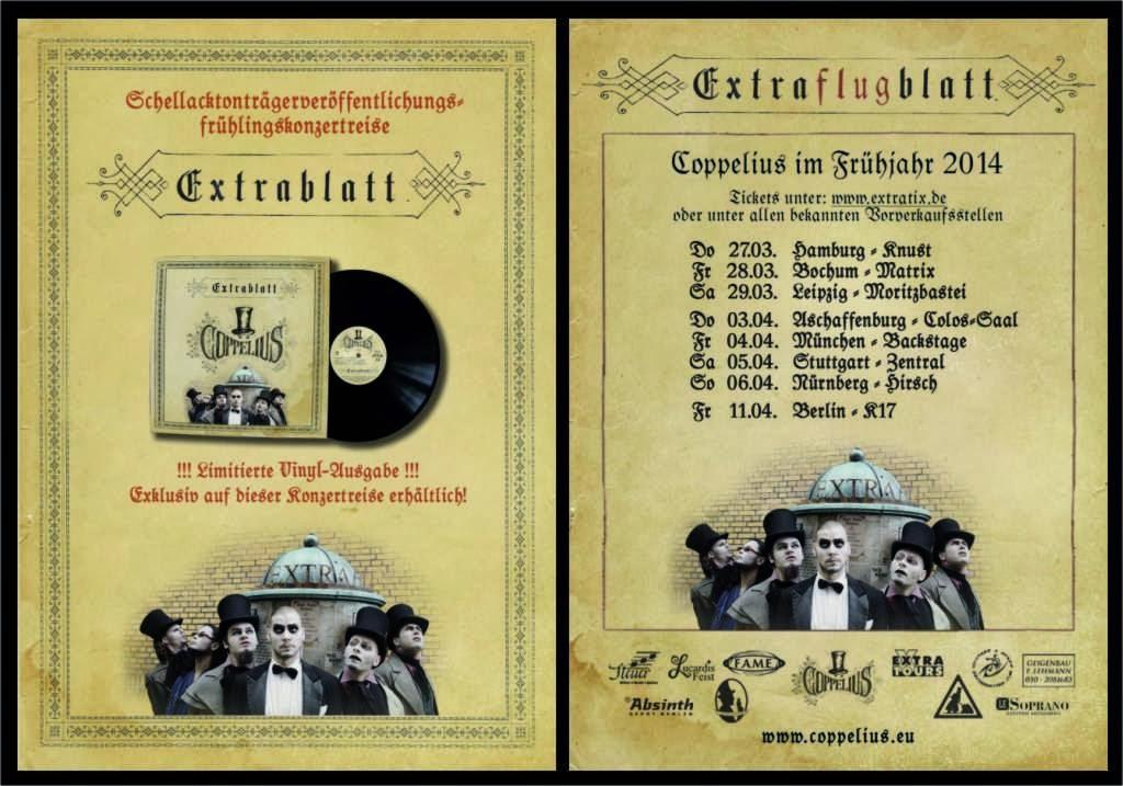 Die Coppelius Vinyl Extrablattveröffentlichungskonzertreise